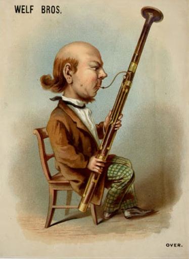 Bassoonist caricature