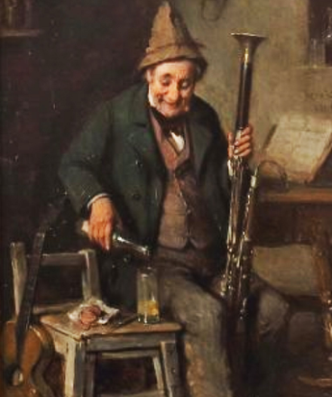 Bassoonist pouring wine