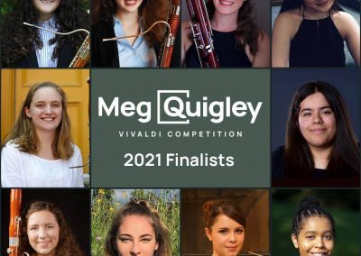 Finalists for the Meg Quigley Vivaldi Competition 2021